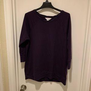 Christopher and Banks Dark Purple Tunic Sweater